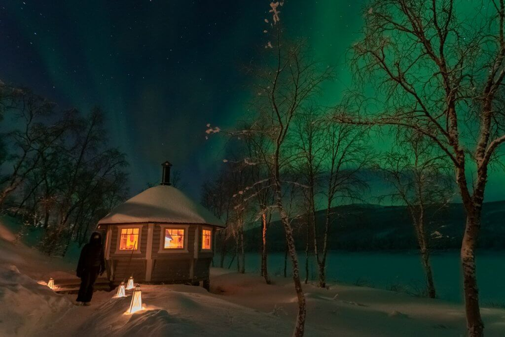 Our own cosy aurora hut for green travel to Lapland